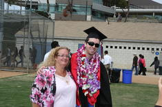 The proud mom!  My son's graduation from UC San Diego, 2010.